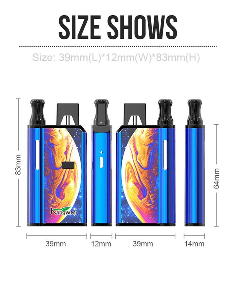 420 2 IN 1 Vape Mod Size