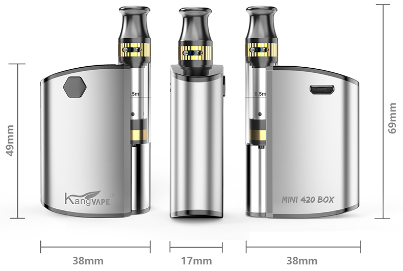 Kangvape Mini 420 BOX Kit Size