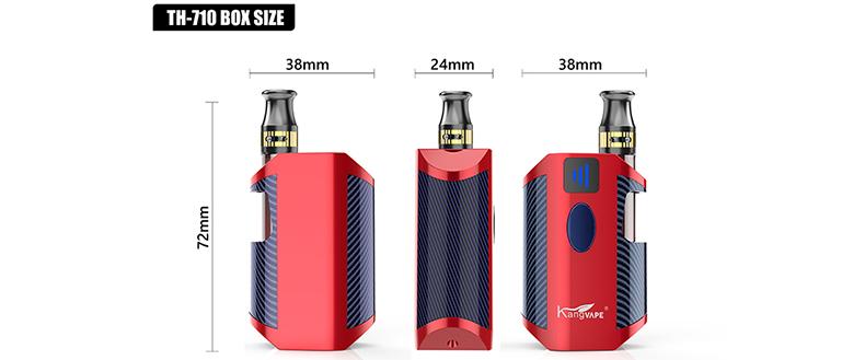 Kangvape TH-710 BOX Kit Size