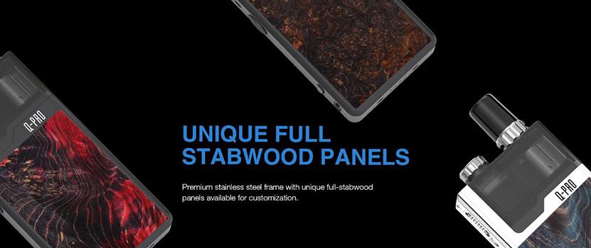 Lost Vape Orion Q-PRO Kit Unique Full Stabwood Panels