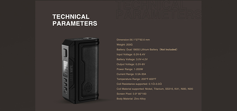 Lost Vape Thelema DNA250C Mod feature4