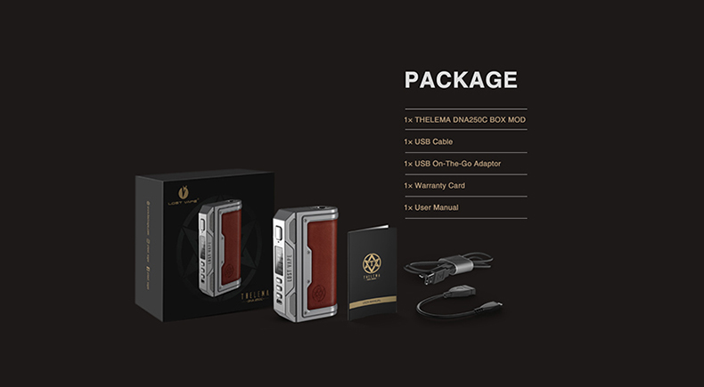 Lost Vape Thelema DNA250C Mod package