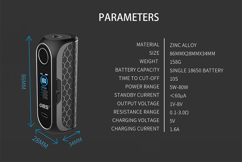 OBS CUBE FP Fingerprint Kit Mod parameter