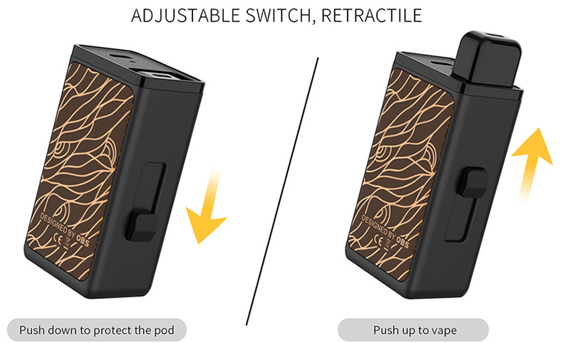 Land Pod Vape Kit Adjustable Switch