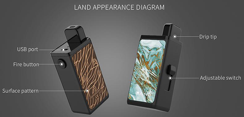 Land Pod Vape Kit Appearance Diagram
