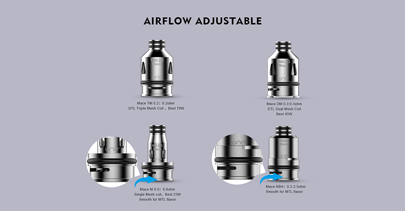 Mace 70 Kit Airflow