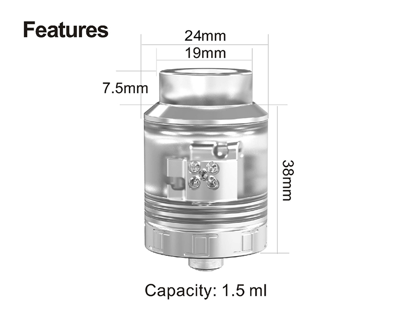 Oumier VLS RDA Atomizer Parameters