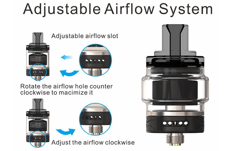 Wasp Nano MTL RTA Adjustable Airflow System