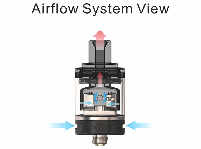 Wasp Nano MTL RTA Airflow System View