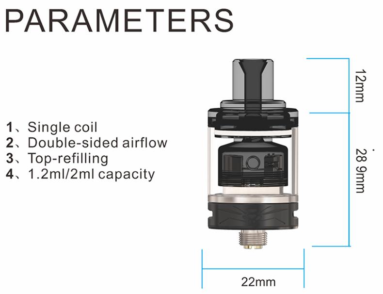 Wasp Nano MTL RTA Parameters