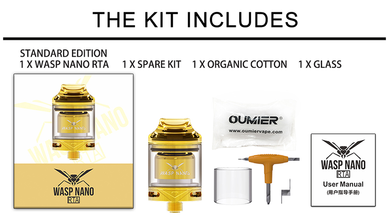 Oumier Wasp Nano RTA Includes