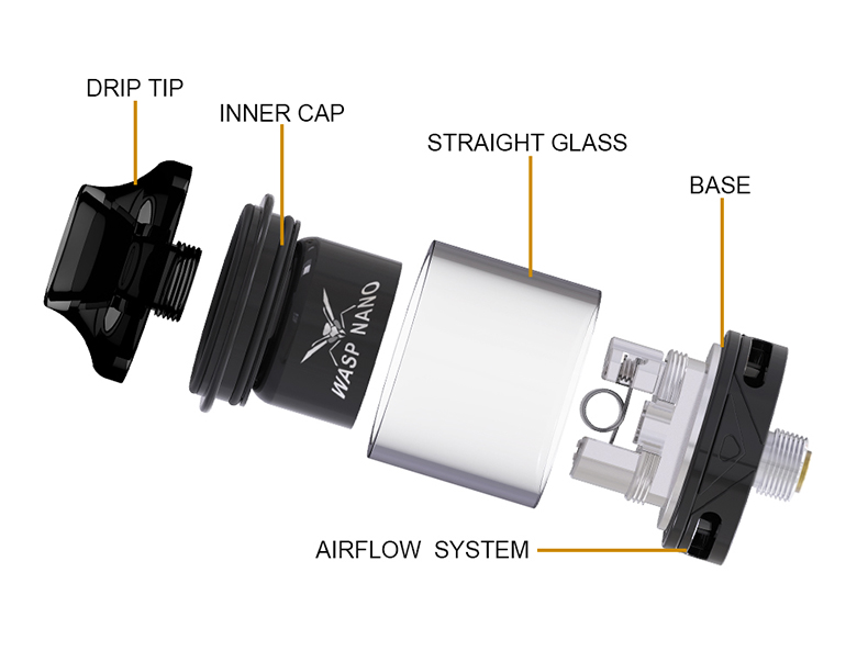 Oumier Wasp Nano RTA Rebuildable Tank Atomizer Overview