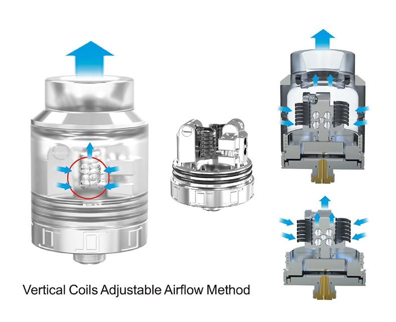 VLS RDA Atomizer Airflow