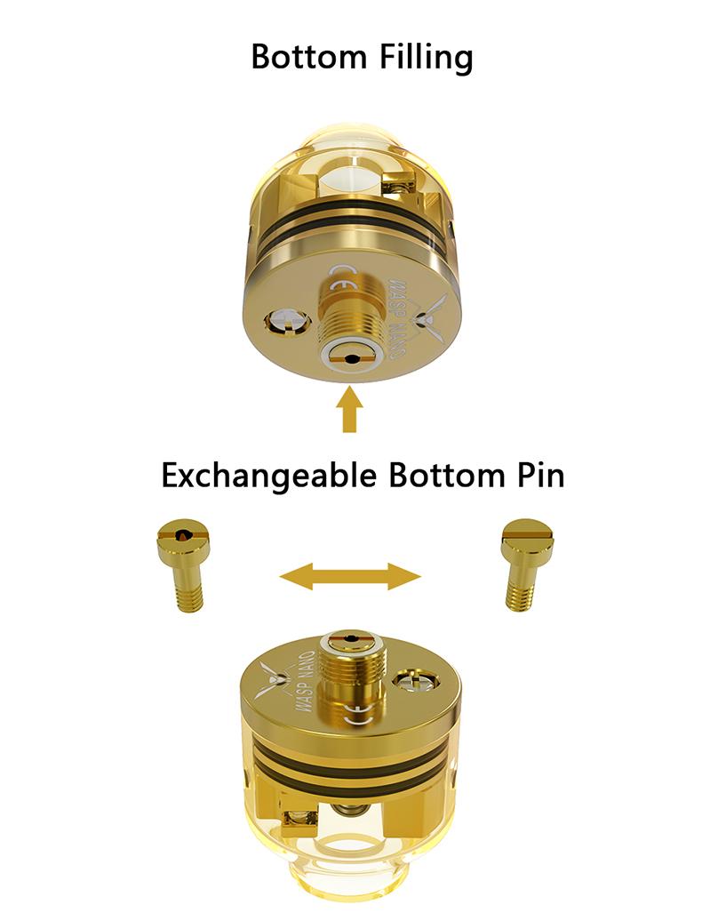 Wasp Nano RDA Transparent Version Bottom Pin
