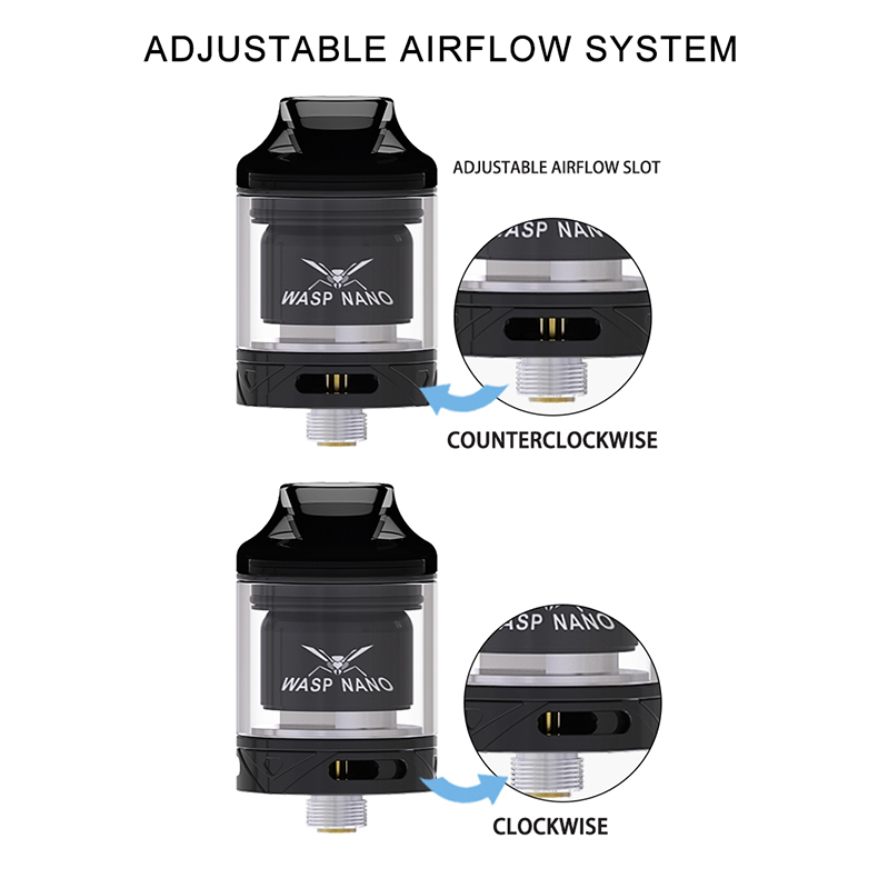 Wasp Nano RTA Tank Atomizer Airflow System