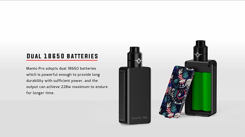 Manto Pro 228W RDA Kit Dual 18650