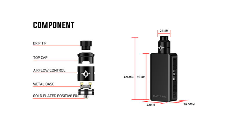 Manto Pro RDA Kit Overview