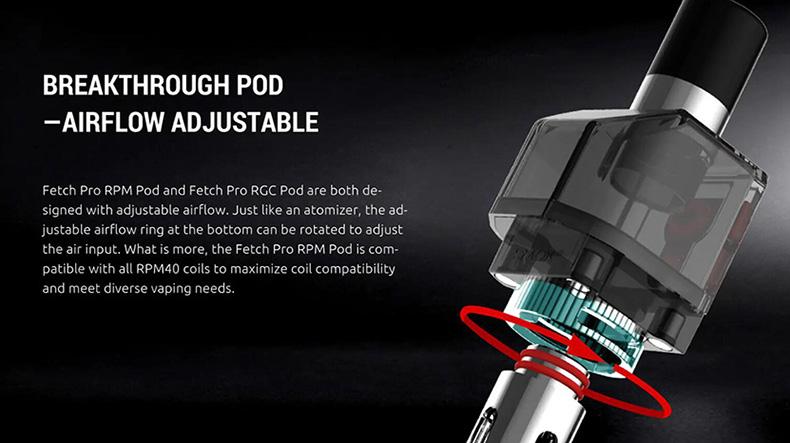 SMOK Fetch Pro Kit Adjustable Airflow