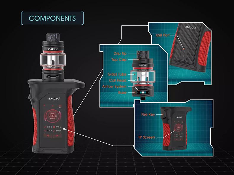 SMOK Mag P3 Kit Components