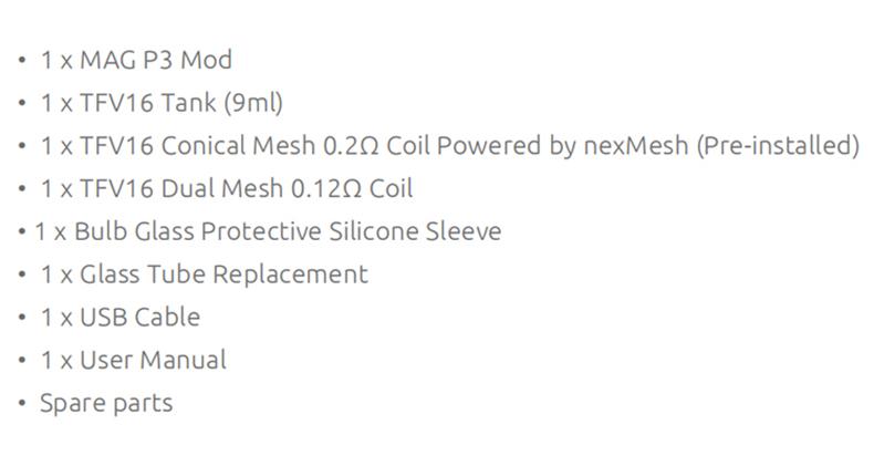 SMOK Mag P3 Kit Package