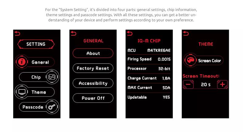 SMOK Mag P3 Kit System Setting