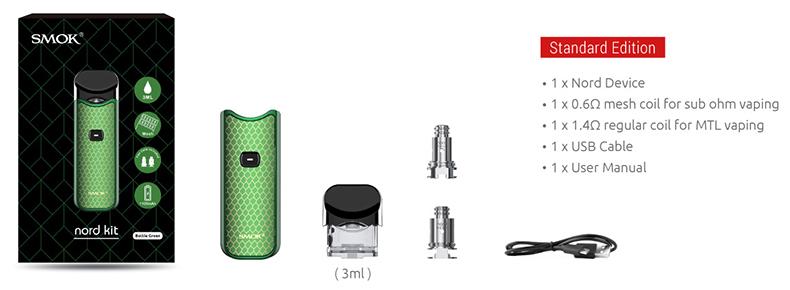 SMOK Nord Pod Kit Carbon Fiber Includes