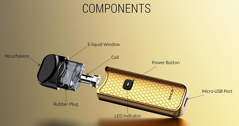 SMOK Nord Pod System Vape Kit Carbon Fiber Components