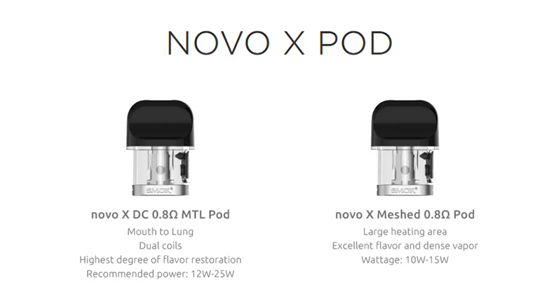 SMOK Novo X Mod Pod Kit Pod Cartridge