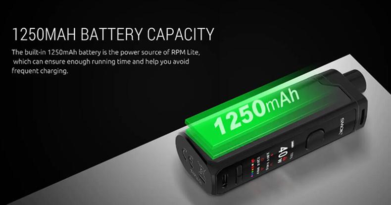RPM Lite Mod Pod Kit Battery