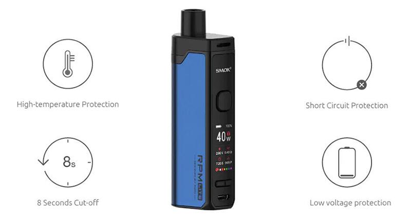 SMOK RPM Lite Pod Vape Kit Protections
