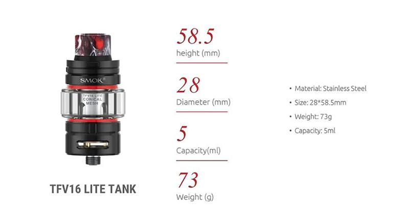 SMOK TFV16 Lite Vape Tank Parameter
