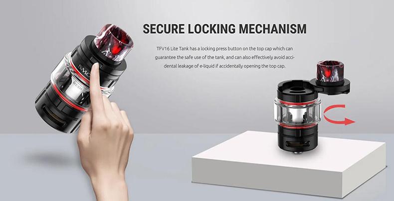 SMOK TFV16 Lite Tank Secure Locking Meshanism