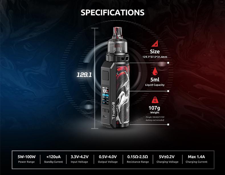 SMOK Thallo S Mod Pod Kit Specification