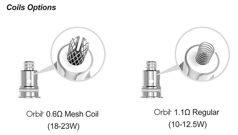 Sense Orbit Pod System Vape Kit Coils Options