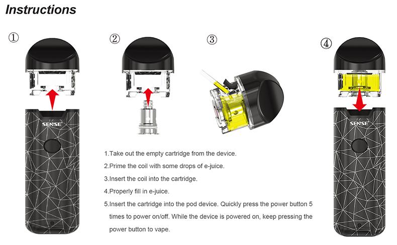 Sense Orbit Pod Vape Kit Installation