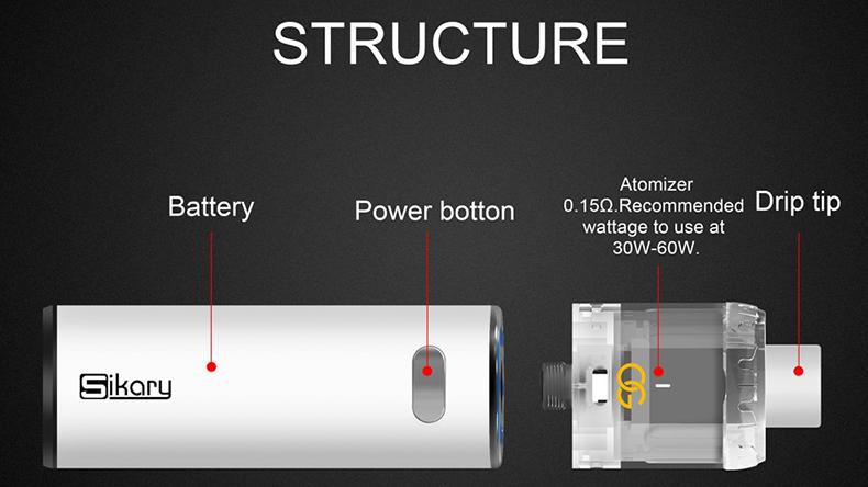 Sikary OG Vape Kit Structure