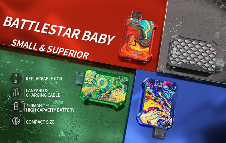 Smoant Battlestar Baby Pod Kit Feature