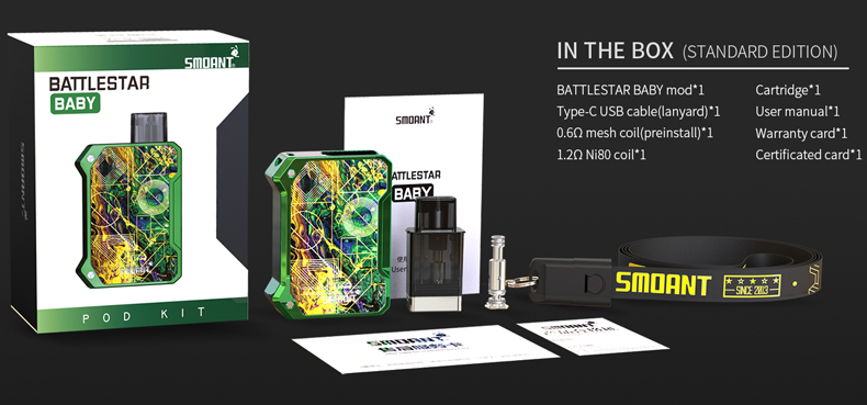 Smoant Battlestar Baby Pod Kit Package