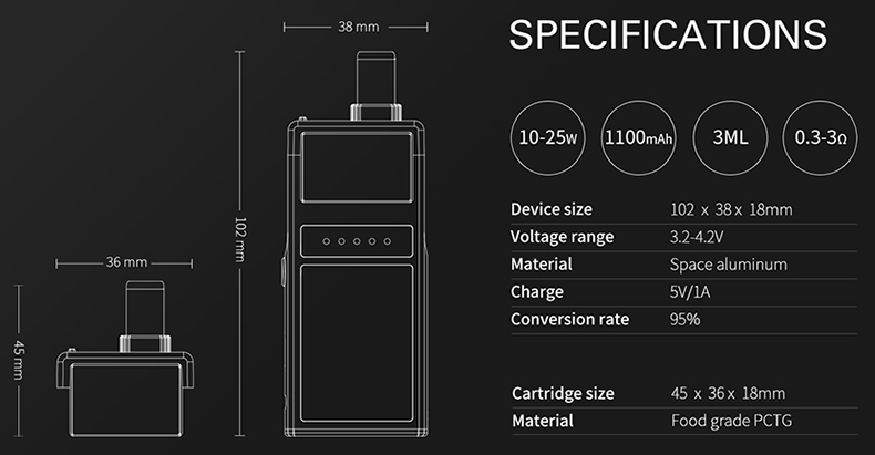 Smoant Pasito Pod Kit Specification