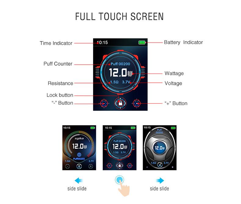 Syiko SE Pod Kit Touch Screen