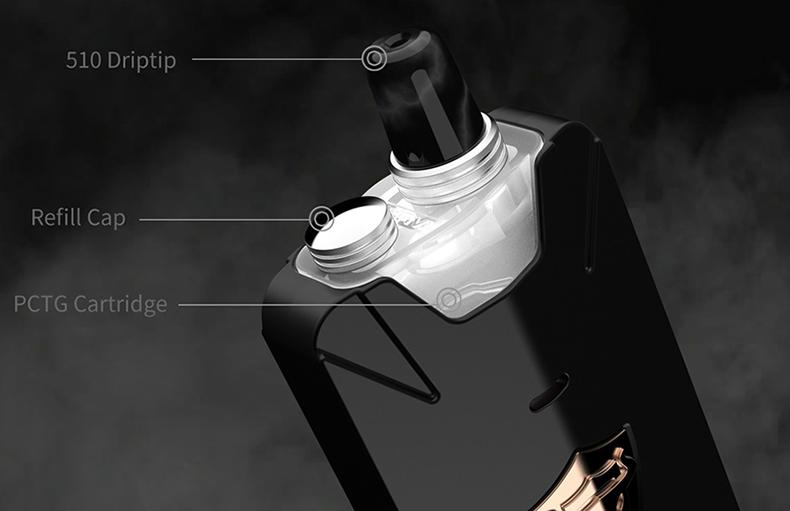 THC Tauren X Pod System Mesh Coil Kit 510 Drip Tip