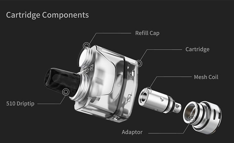 THC Tauren X Pod System Mesh Coil Kit Cartridge