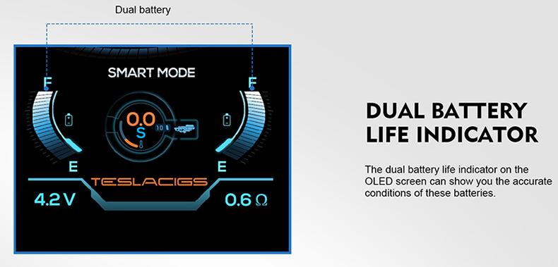 Tesla Shinyo Starter Kit Battery Indicator