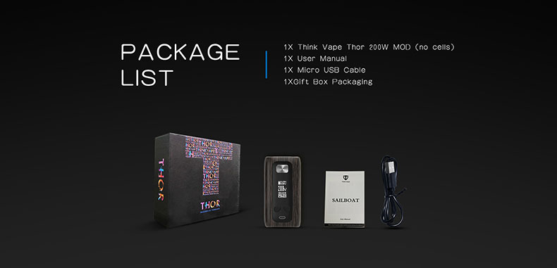 Think Vape Thor 200W Mod Package