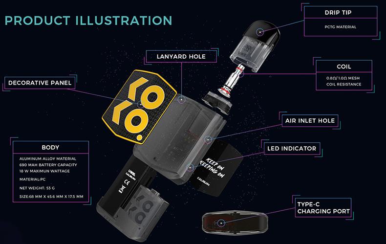 Uwell Caliburn KOKO Prime Vision Kit Overview