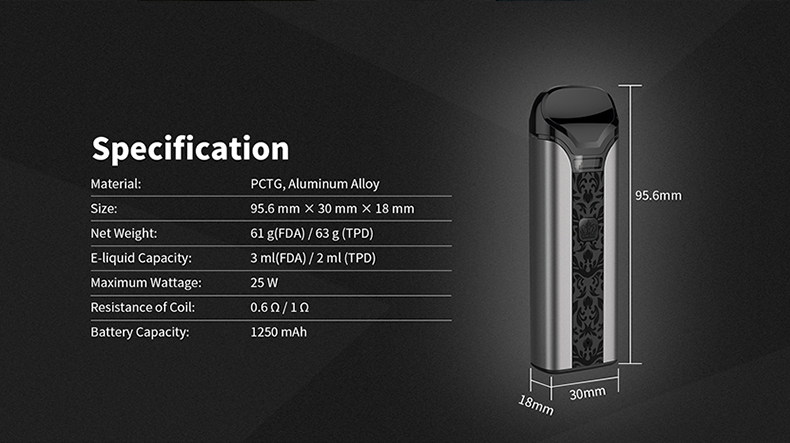 Uwell Crown Kit Specification