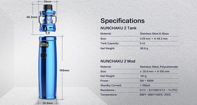 Uwell Nunchaku 2 Kit Specification