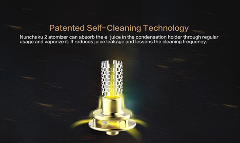 Nunchaku 2 Vape Tank Patented Self-cleaning Technology
