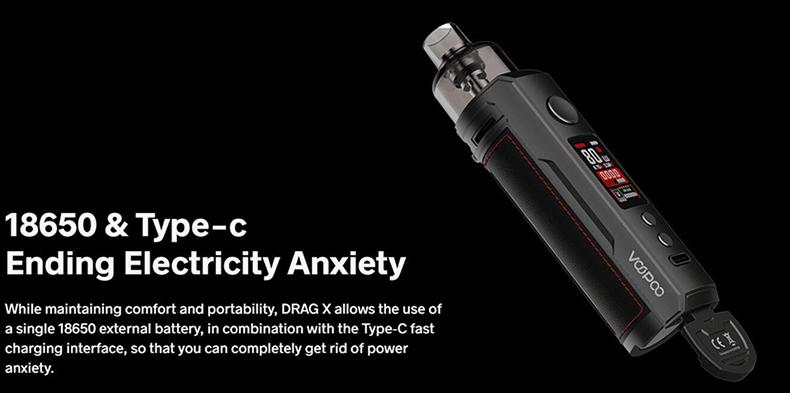 VOOPOO Drag X Kit 18650 Battery