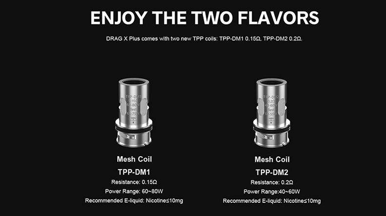 VOOPOO Drag X Plus Kit TPP Coils2